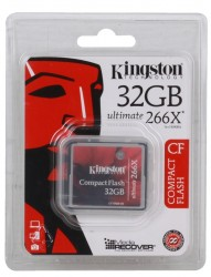 Карта памяти Compact Flash 32Gb Kingston Ultimate