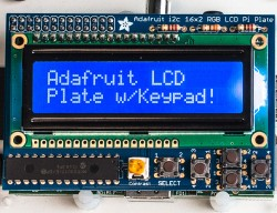 Дисплей и клавиатура Adafruit industries - 1115 - blue & white 16x2 lcd + keypad kit, raspberry pi