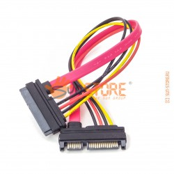 Удлинитель SATA 25 см (22 Pin Male to Female 7+15 pin SATA)