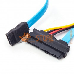 Кабель-переходник SATA-SAS (7 Pin SATA Serial ATA to SAS 29 Pin + 4 Pin Cable Male)