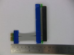 PCI-E 16X в 1X (Riser Card PCI Express Ribbon Extender Cable)