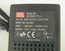 Блок питания MEAN WELL AC/DC ES18E07 (Out 7.5V 2A, 15W)