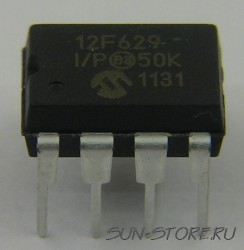 Product Type: PIC12F629-E / P. Идентификатор (Артикул).  Brand origin: Microchip's.  Package specifications: in PDIP.