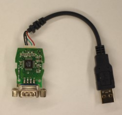 USB - RS232 (DB9) на чипе  FTDI FT232AM (HPPN 5184-2172 USB DONGLE)