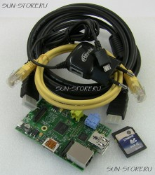 Набор Raspberry Pi - #1 (Raspberry Pi, SD-карта 4Gb с образом Raspbian, AC adapter, HDMI cable, case, патч-корд)
