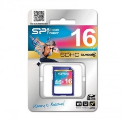 Карта памяти SDHC 16Gb Silicon Power Class6