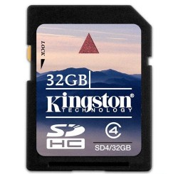 Карта памяти SDHC 32Gb Kingston Class4 (SD4/32GB)