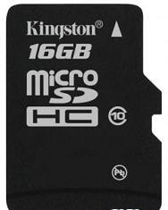 Карта памяти MicroSDHC 16GB Kingston Class10 (SDC10/16GB)