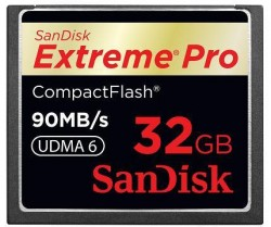 Карта памяти Compact Flash 32Gb SanDisk Extreme Pro
