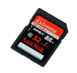 Карта памяти SDHC 32Gb SanDisk Extreme UHS-I Class10 HD Video (SDSDX-032G-X46)