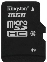 Карта памяти MicroSDHC 16GB Kingston Class10 Без адаптера (SDC10/16GBSP)