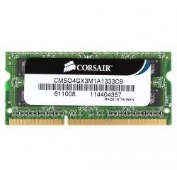 Память SO-DIMM DDR3 4096 Mb (pc-10600) 1333MHz Corsair (CMSO4GX3M1A1333C9)
