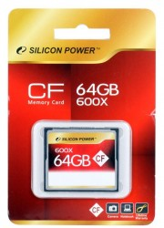 Карта памяти Compact Flash 64Gb Silicon Power <600x>