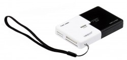 Картридер <AII in 1> USB 2.0 Orient + HUB 3port CO-740. 2in1. Black/White
