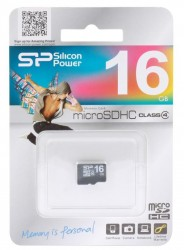 Карта памяти MicroSDHC 16GB Silicon Power Class4 без адаптера
