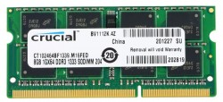 Память SO-DIMM DDR3 8Gb (pc-10600) 1333MHz Crucial. 1.35/1.5V <Retail> (CT102464BF1339)