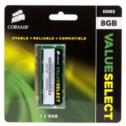 Память SO-DIMM DDR3 8192 Mb (pc-10600) 1333MHz Corsair (CMSO8GX3M1A1333C9)