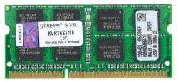 Память SO-DIMM DDR3 8192 Mb (pc-12800) 1600MHz Kingston. CL11 <Retail> (KVR16S11/8)