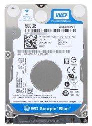"Жесткий диск 2.5""  500.0 Gb WD5000LPVT Scorpio Blue. SATA II (8mb. 5400rpm. 7mm)"