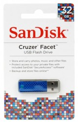 Внешний накопитель 32GB USB Drive <USB 2.0> SanDisk Cruzer Facet Blue