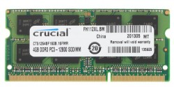 Память SO-DIMM DDR3 4Gb (pc-12800) 1600MHz Crucial (CT51264BF160B)