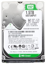 "Жесткий диск 2.5""  1.5Tb WD15NPVT Green SATA II (8mb. IntelliPower)"
