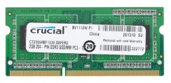 Память SO-DIMM DDR3 2Gb (pc-10600) 1333MHz Crucial (CT25664BF1339)