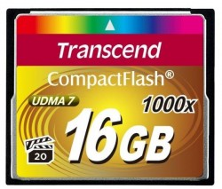 Карта памяти Compact Flash 16Gb Transcend <1000x> High-Speed