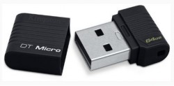 Внешний накопитель 64GB USB Drive <USB 2.0> Kingston Micro Black (DTMCK/64GB)