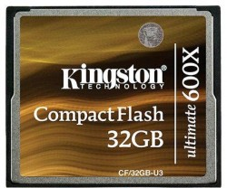 Карта памяти Compact Flash 32Gb Kingston Ultimate 600x (CF/32GB-U3)