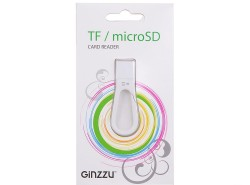 Картридер <AII in 1> USB 2.0 Ginzzu GR-411W. White