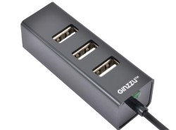 Концентратор Ginzzu GR-474UB  USB 2.0 4 port. 1.1m cable