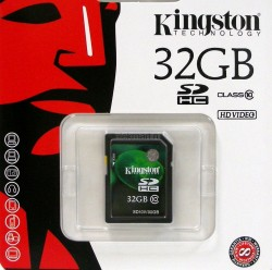 Карта памяти SDHC 32Gb Kingston Video Class10