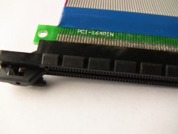 PCI-E PCI-Express 16X Riser Card Extender Cable Ribbon (PCI 164 Pin)